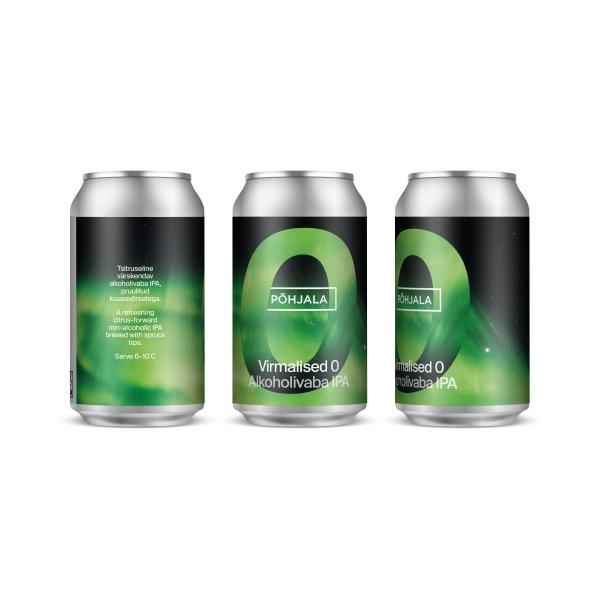 Põhjala Virmalised 0 – Non-alcoholic IPA - 0.5% – 0.33L