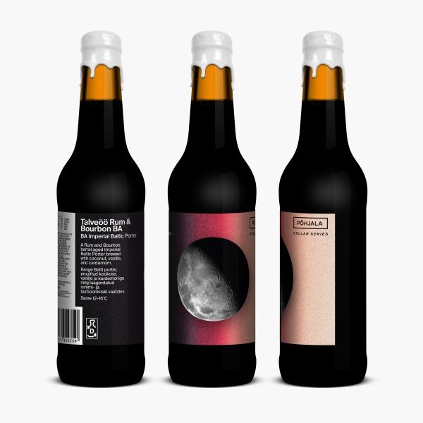 Põhjala Talveöö Rum & Bourbon BA – BA Imperial Baltic Porter - 11.5% – 0.33L